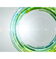 Abstract technology circles and light effects vector image vector image
