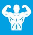 athletic man torso icon white vector image vector image
