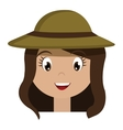 avatar girl wearing green hat graphic vector image vector image