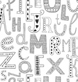 background with hand drawn alphabet vector image vector image