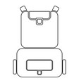 backpack the black color icon vector image vector image