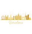 Barcelona City skyline golden silhouette vector image vector image