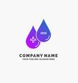 blood drop liquid plus minus purple business logo vector image