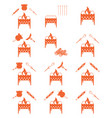 brazier coocking icons set vector image vector image