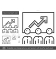 Business team line icon vector image vector image