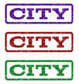 city watermark stamp vector image vector image