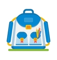 color school bag vector image vector image
