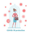 covid19-19 quarantine restriction keep out vector image vector image