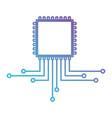 cpu microprocessor icon in color gradient vector image vector image