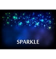 Dark blue sparkling bokeh background