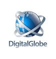 digital globe blue sphere logo concept design vector image vector image