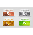 discount cards polygonal background vector image