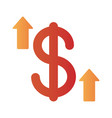 dollar symbol with arrow up infographic degradient vector image vector image