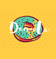 donut poster with cool design vector image vector image