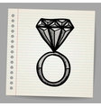Doodle style diamond vector image vector image