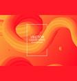 dynamic composition modern design 3d flow shape vector image