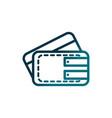 economy business wallet bank card cash gradient vector image vector image