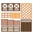 fence design elements vector image vector image
