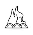 firewood line icon concept sign outline vector image
