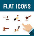 flat icon lawyer set of law legal crime and vector image