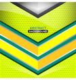 geometric green background design vector image vector image