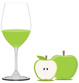 Green apple juice vector image vector image