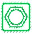 Green Frames vector image vector image