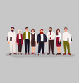 group portrait cute happy office workers vector image vector image