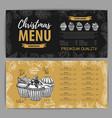hand drawing christmas holiday menu design vector image vector image