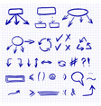 hand drawn set isolated on the vector image vector image