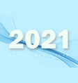 happy new year number 2021 with blue abstract vector image