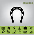 horseshoe sign black icon at vector image vector image