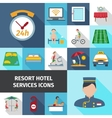 Hotel Services Flat Icon Set vector image vector image