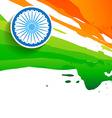 indian flag design vector image vector image