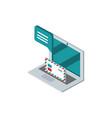 laptop envelope letter message postal mail vector image