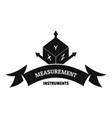 measurement cube logo simple black style vector image vector image