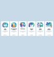 mobile app onboarding screens ui ux design vector image vector image
