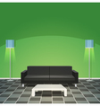 Modern Living Room - Green vector image vector image