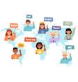 multilingual communication international vector image