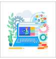 online education online learning social media vector image