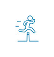 overcoming difficulties linear icon concept vector image