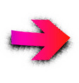 pink arrow sign on white background vector image vector image