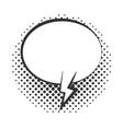 pop art speech bubble advert banner halftone vector image vector image