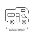 recreational vehicle linear icon vector image