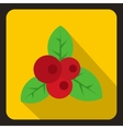 Red currant icon flat style vector image vector image