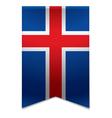 Ribbon banner - icelandic flag vector image