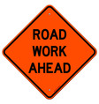 Road Work Ahead Sign vector image vector image