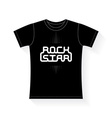 Rock Star - music typography t-shirt graphics vector image vector image