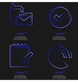 Set of blue web icon flat design Simple sticker vector image