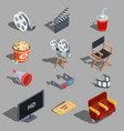 set of isometric making vector image
